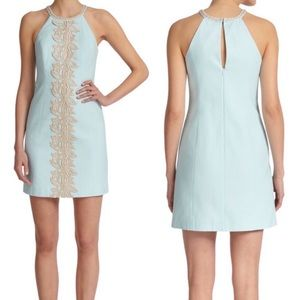 Lilly Pulitzer Pearl Shift Dress In Whisper Blue 8